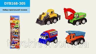 Набір транспорту инерц. DYB168-305(144шт|2) 4 машинки в комплекті, в кор.8*4*28 см, р-р іграшки – 4