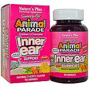 Комплекс для Поддержки Внутреннего Уха для Детей, Вкус Вишни, Animal Parade, Natures Plus, 90 жевательных