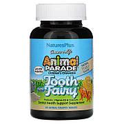 Пробиотик для Здоровья Зубов и Полости Рта для Детей, Вкус Ванили, Tooth Fairy, Animal Parade, Natures Plus,