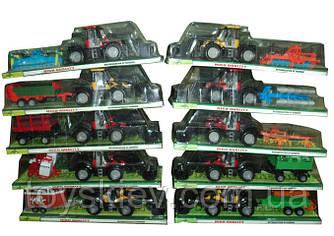 Трактор инерц. 1033A|2033A|6033A|4033A|5033A|8033A|9033A|7033A|2044A|3044A(30шт)10видов, в кор. 43*1