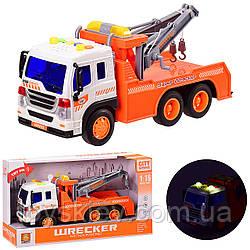 Эвакуатор  батар WY340F (24шт) свет, звук, в откр. кор. 32*11.5*18.5 см, р-р игрушки – 26*8.5*12 см