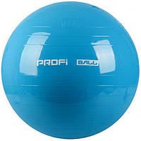 Фитбол мяч для фитнеса Profi Ball 65 см усиленный 0382 Blue