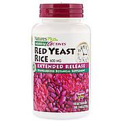 Красный Дрожжевой Рис 600 мг, Herbal Actives, Natures Plus, 60 таблеток