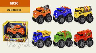 Машина 6920 (96шт|2) 6 видів, світло,звук,в кор. 16,5*9,5*13,5 см, р-р іграшки– 13*8*11.5 см