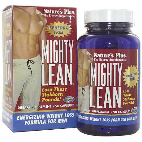 Формула Похудения для Мужчин, Mighty Lean, Natures Plus, 90 капсул, фото 2