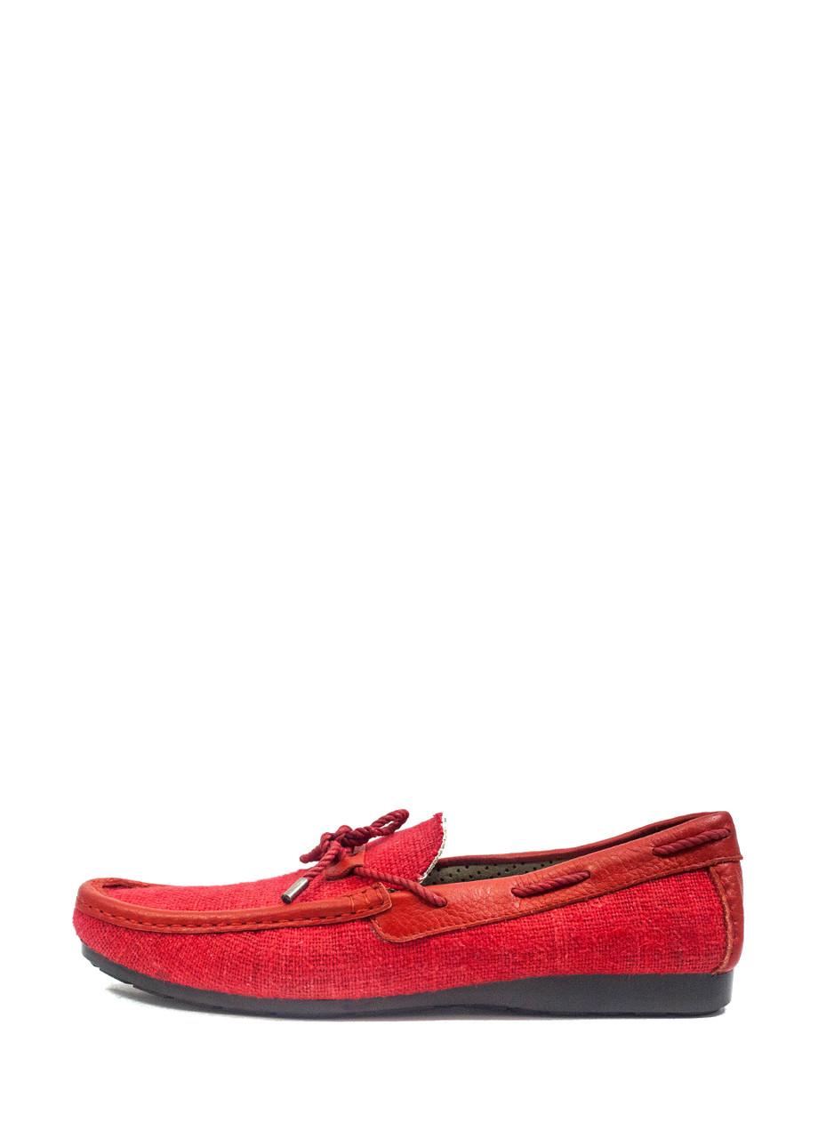 Мокасини чоловічі TiBet червоний 19477 (43)
