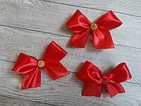 Бутоньєрка для гостей (бант)- червоний колір+золото
