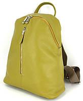 Жіночий шкіряний рюкзак Borsacomoda 14 л жовтий 841.015