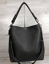 Молодежная сумка с ремешком Aliri-54121 серая