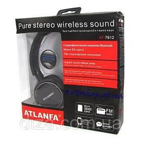 Беспроводные наушники ATLANFA AT-7612 - Bluetooth стерео наушники с MP3 плеером и FM радиоприемником