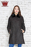 Пальто Танга меланж коричневый  LENER  CORDIER зима