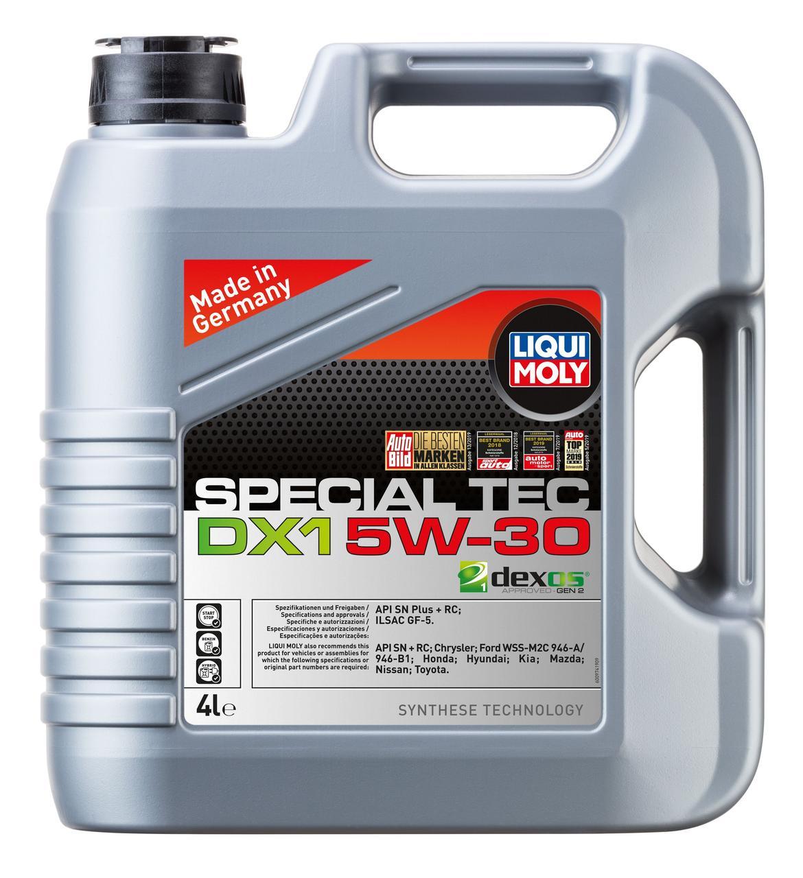 Синтетичне моторне масло Liqui Moly Special Tec DX1 5W-30