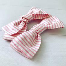 Заколки-бантики розовые 2 шт