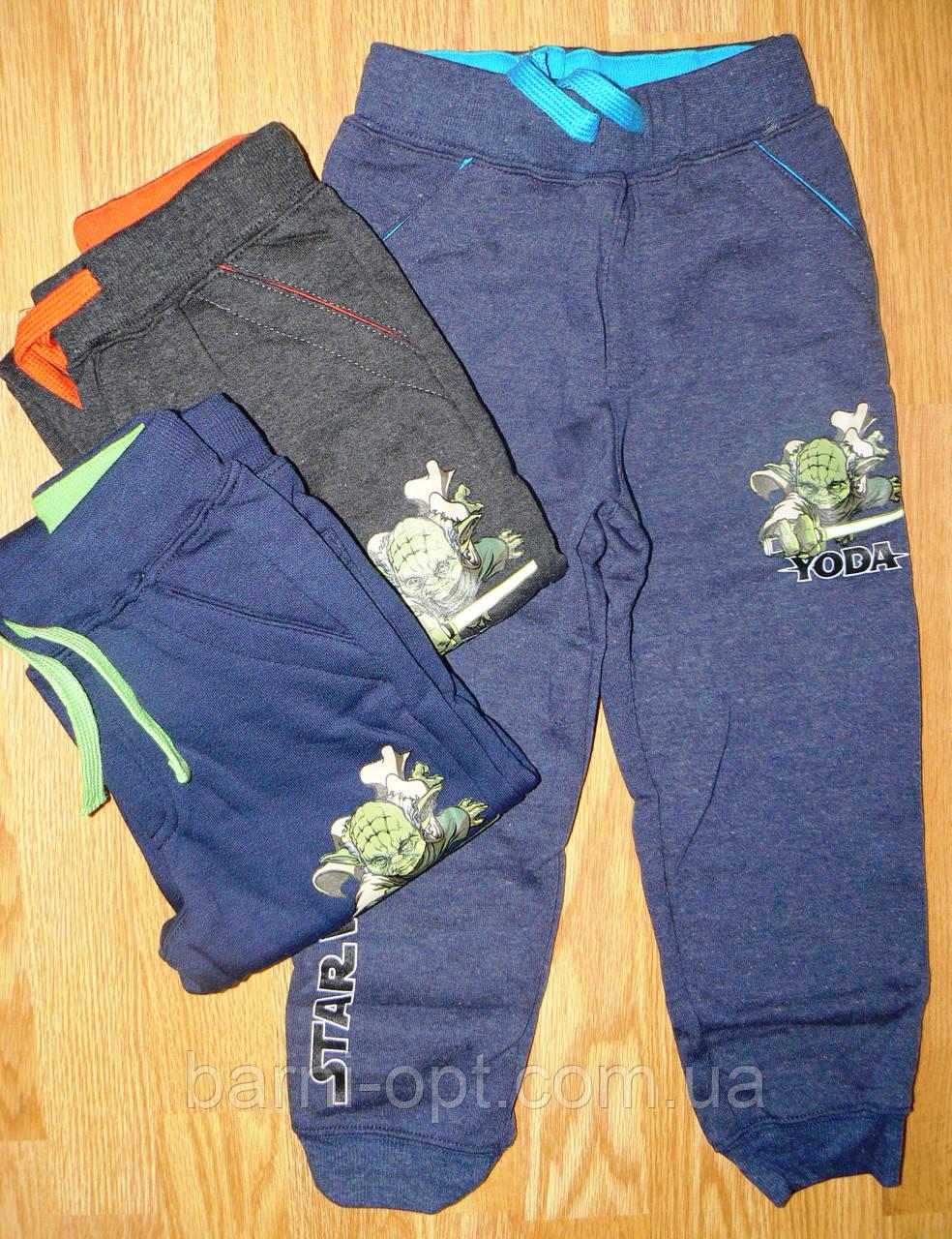 Спортивные брюки с микроначесом для мальчиков Disney, оптом, 98-128  рр