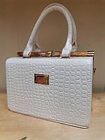 """Женская сумка, качественная, саквояж, """"Willow"""", белая, 000179"""