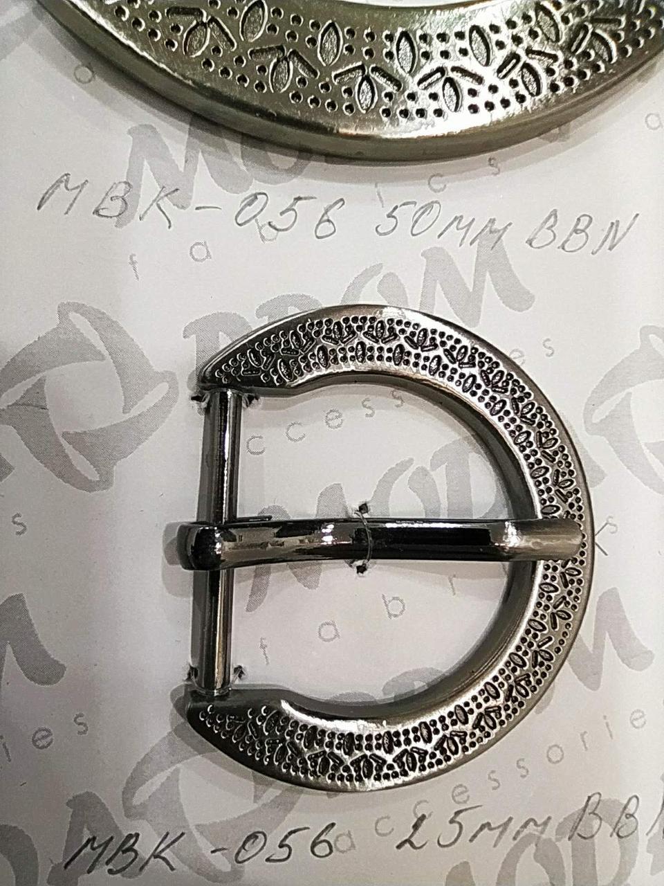 Металева Пряжка, МБК-056, Маленька - висота перемички 25мм, колір Нікель Чорніння