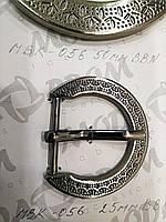 Металева Пряжка, МБК-056, Маленька - висота перемички 25мм, колір Нікель Чорніння, фото 1