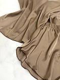 Домашняя шелковая пижама (капучино) р. 2XL - 3XL, фото 3