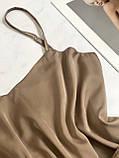 Домашня шовкова піжама (капучіно) р. 2XL - 3XL, фото 4