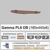 Полка из стекла Сommus PL6OB  (6мм)