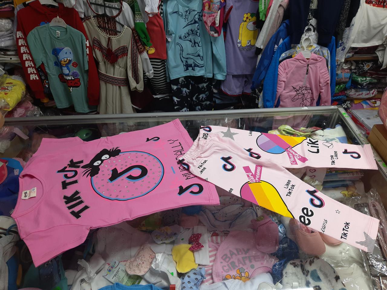 Літні бриджі подовжені шорти для дівчинки ТикТок р. 110-128
