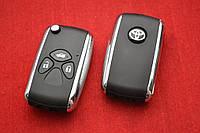 Toyota Camry, corolla ключ выкидной 3 кнопки New Хром