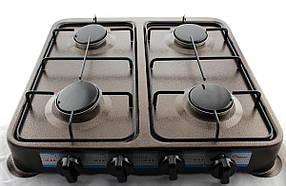 Газова плита/таганок Domotec MS-6664 (настільна, 4 конфорки)