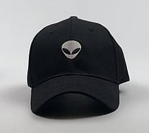 Кепка Бейсболка Мужская Женская City-A Alien с Инопланетянином Черная, фото 2