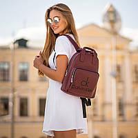 Женский рюкзак Calvin Klein с экокожи, модный городской рюкзачок для девушек.