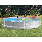 Бассейн каркасный Intex 26712 Prism Frame Pool круглый 366 x 76 см с фильтр-насосом Серый (bint_26712), фото 2