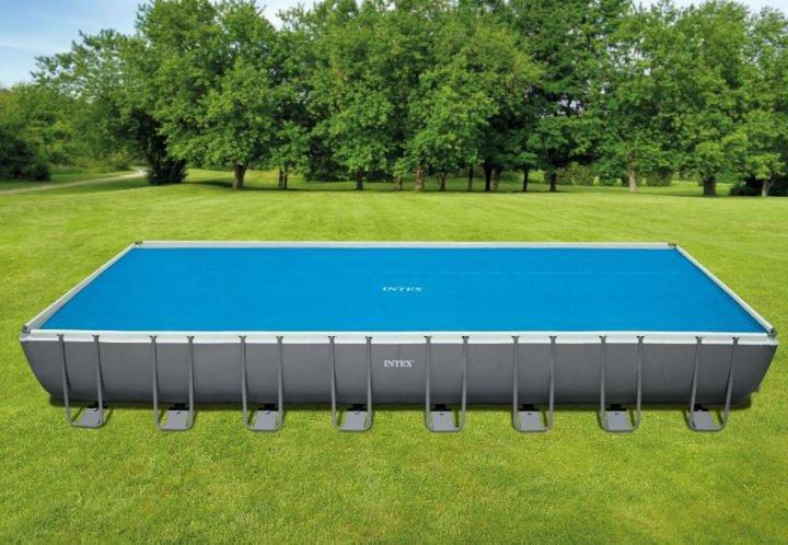 Тент солнечное покрывало антиохлаждение Intex 29030 для каркасных бассейнов 975х488 см (int_29030)