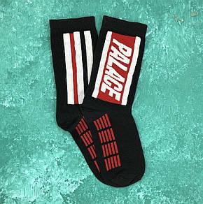 Шкарпетки Високі Жіночі Чоловічі Palace Чорні з червоною смугою 37-43, фото 2