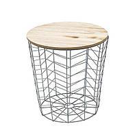 Декоративный столик/урна HOME DECO FACTORY HD3938, металл, серый