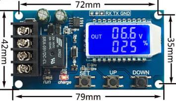 Модуль управления зарядом XY-L30A, 6-60В 30A, 10А