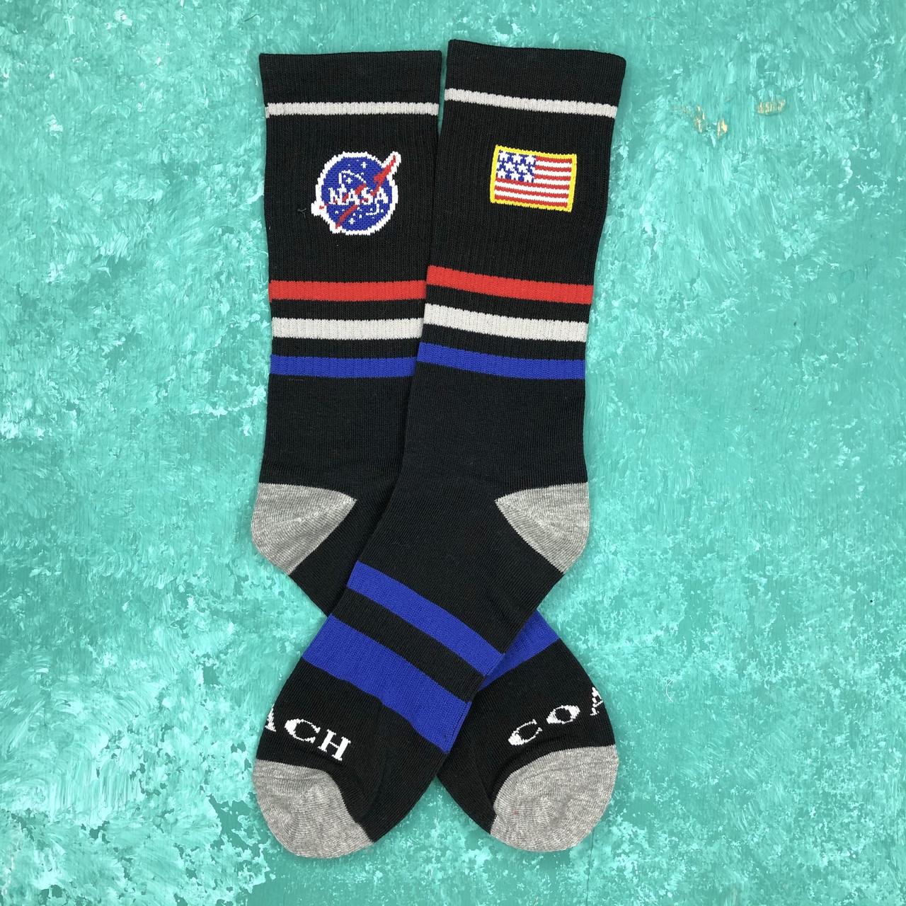 Носки Высокие Женские Мужские NASA Черные 37-43