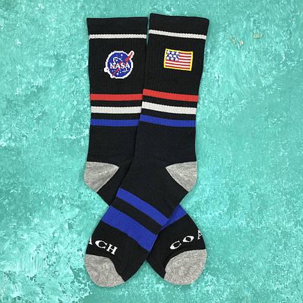 Носки Высокие Женские Мужские NASA Черные 37-43, фото 2