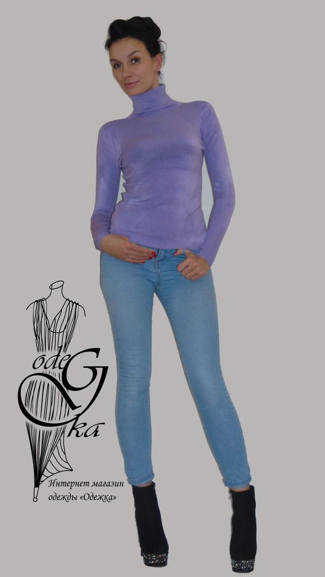 Фото-1 Водолазки с длинным рукавом с шерстяной ниткой №3