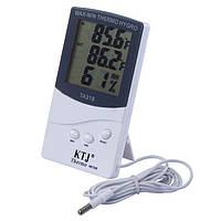Годинник термометр, гігрометр + виносний датчик HTC-2, A214