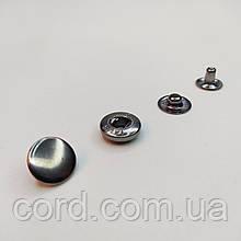 Кнопка Альфа для одежды (Кошелёк) 10,5 мм. Кнопка VT-2. Упаковка (25шт.)  Блек Никель.