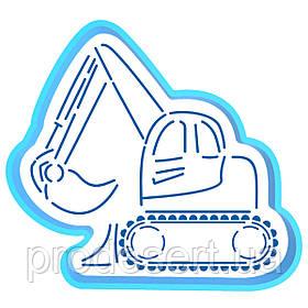 Екскаватор вирубка з трафаретом 10*11 см (TR-2)