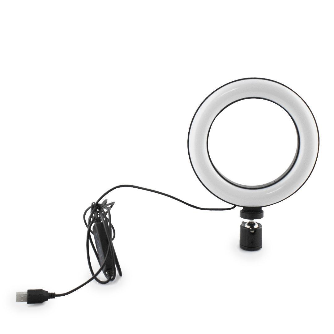 Кольцевая LED лампа для селфи 16см диаметр, A467