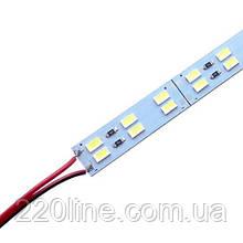 Світлодіодна лінійка JL 5730-144 led W 2-pin 6500K, 12В, IP20 білий