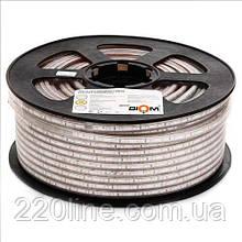 Світлодіодна стрічка JL 2835-180 WW 220В IP68 теплий білий, герметична, 1м