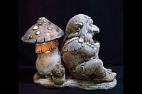 Світлодіодний світильник садовий вуличний Гном і Мухомор