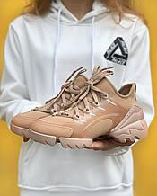 Стильные женские кроссовки Dior Beige / Диор Бежевые /36,37 размер/ Распродажа