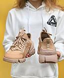 Стильні жіночі кросівки Dior Beige / Діор Бежеві /36,37 розмір/ Розпродаж, фото 2