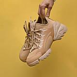 Стильні жіночі кросівки Dior Beige / Діор Бежеві /36,37 розмір/ Розпродаж, фото 5
