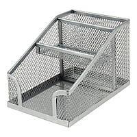 Підставка для дрібниць Axent 100х143х100мм, wire mesh, silver (2118-03-A)