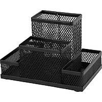 Подставка для мелочей Axent 155x103x100мм, wire mesh, black (2117-01-A)