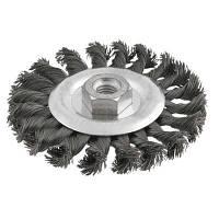 Щетка для электроинструмента Verto на дриль, щітка дротяна дискова, 115 мм х М14 (62H140)